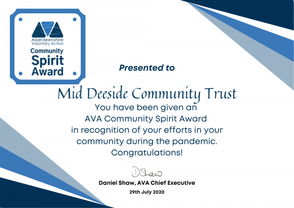 AVA COMMUNITY SPIRIT AWARD
